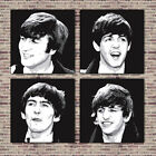THE BEATLES STYLISH PRINTS ON CANVAS - 4 PIECE SET OF CANVASES - Choose Size