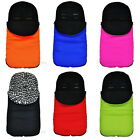 UNIVERSAL FOOTMUFF FIT BUGGY PUSHCHAIR STROLLER PRAM COSY TOES FLEECE LINING NEW