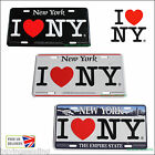 GENUINE I LOVE NEW YORK CITY LICENCE PLATE HEART METAL SIGN TAXI NYC SOUVENIRS
