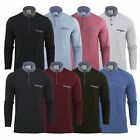 Mens Polo T Shirt Brave Soul Hera Cotton Long Sleeve Casual Top