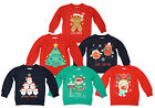 Boys Girls Toddler Christmas Elf Santa Robin Sweatshirt Xmas Jumper 2 to 6 Years