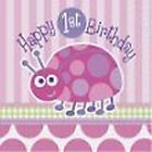 1st Birthday Party Set 4 16 Cups Plates Napkins Tablecover Boy or Girl Pink Blue