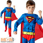 Superman Boys Fancy Dress Superhero Comic Book Kids Childrens Movie Costume 3-8