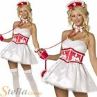 Ladies Fever Sexy Sweetheart Nurse Hen Do Fancy Dress Costume Outfit