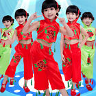 Girls Children's Day Costume Chinese Folk Dance Suit Yangko Baby Younger Clothes