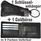 1 Small Purse + 1 Keychain with Zipper / Cattle leather / QFK5