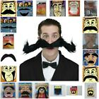 Black Mexican 118 Pirate 70's Stick on Fake Moustache Self Adhesive Fancy Party