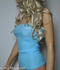 PALE BLUE LYCRA LONG BOOB TUBE TOP STRAPLESS BANDEAU CLUB PARTY BEACH COVER W751