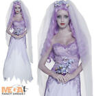 Ghost Bride Ladies Halloween Fancy Dress Zombie Corpse Womens Costume Outfit New