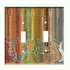 Guitars  Light Switch Plate Wall Cover Music Decor