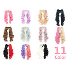 11 Colors 70 cm Long Curly Lolita Style Clip-In 2 Ponytails Cosplay Women's Wig