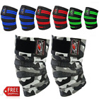 BeSmart Power Lifter Weight Lifting Knee Wraps Supports Gym Training Pair