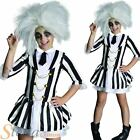 Girls Beelejuice Costume Ghost Halloween Fancy Dress Official Child Kids Outfit