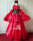 VOCALOID Meiko Seven Eat Too Much Cosplay Costume Red Dress Free Shipping