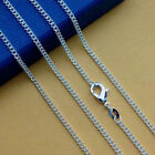 Fashion Wholesale 1/5pcs Sterling Silver 2mm Rolo Curb Chain 16-30 Inch New Hot
