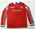 Beckham #7 Manchester United 1998/99 Long Sleeve Soccer Jersey Football Shirt