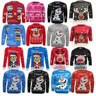 Kids Boy Girl Knitted Christmas Xmas Olaf Minion Chunky Knit Jumper Novelty Top