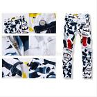 2015 Men's Slim Straight Casual Trousers Floral Denim Calca Jeans Trousers Hot