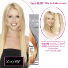 LORD & CLIFF 100% REMY HUMAN HAIR SEVEN PIECES CLIP IN EX...