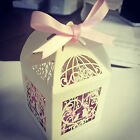 READY MADE**LIMITED STOCK Ivory and Pink Laser Cut Lantern Boxes Wedding Favours