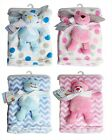 Newborn Baby's First Blanket with Soft Toy - Ideal  Newborns Gift - Four Designs
