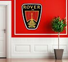 ROVER CAR BADGE WALL STICKER MODERN ART LOUNGE BEDROOM REMOVABLE MG 25  75