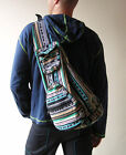 Hippie Backpack Folding Woven Cotton Bag Cross Body Tribal