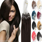 1g/s Thick Remy Human Hair Extensions Loop Micro Ring Beads Tip Hair 22Inch 100S