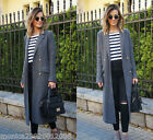 ZARA GREY WOOL LONG MAXI COAT SIZE MEDIUM