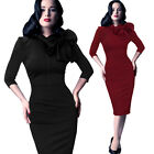 VINTAGE 50S 60S WOMENS BODYCON WIGGLE PIN UP COCKTAIL PARTY EVENING PENCIL DRESS