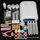 KIT Lampe Vernis Gel UV Acrylique Faux Ongles Colle Lime Pousse Cuticle Nail Art