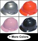 "MSA V-Gard Cap Style Safety Hard Hat ""NEW"" One Touch Suspension 14 Colors"