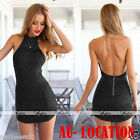 Women Club Casual Lace Sleeveless Party Evening Cocktail Short Mini Dress AU