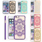 Henna Floral Mandala Hard Case Cover For iPhone5 5S 6 6 Plus Paisley Flowers New