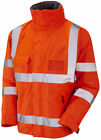 HI VIS VIZ EXECUTIVE BOMBER JACKET Railway GO/RT 3279 ORANGE  sizes XS upto 4XL