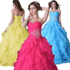 Long Evening Formal Party Ball BRIDAL Gown Masquerade Prom Quinceanera Dress New