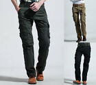 NEW 100% Cotton Mens Vintage Army Camo Cargo Combat Work Fishing Trousers Pants