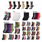 Women's Girls 6-12 Pairs Lot Crew Socks Multi Pattern Stripe Argyle 9-11 Unisex