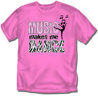 Music makes me Dance Pink T-Shirt - Youth Sizes