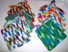 DISHCLOTHS~Set Of 3~Crocheted~Soft~Absorbent~Cotton~Colors Vary~NEW~FREE SHIP