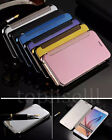 Luxury OEM Flip Mirror Clear View Ultra Thin Shiny Slim Leather Case Cover