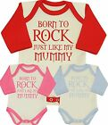 MUMMY ROCKS Bodysuit Vest Creeper One Piece Romper Funny Girls Boys Shower Gifts