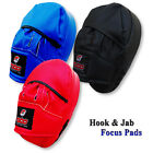 Focus Pads PRO Boxing Rex Leather Training Hook & Jab MMA Punch Bag Mitts Curved