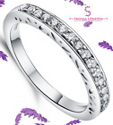 Genuine Solid 925 Sterling Silver Fancy Band Stacking Eternity Ring FREE POSTAGE