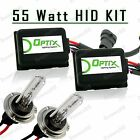 55W HID Fog Lights Xenon Light Slim Kit Plug N Play Bulb Size - H7 (F)