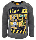 Boys Team Rex Doug Joey JCB Digger Long Sleeve Top 6 Months to 7 Years