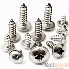 POZI FLANGE SELF TAPPING SCREWS A2 STAINLESS STEEL FLANGED TAPPERS No.6,8,10,12