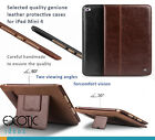iPad Mini 4 Quality genuine leather protective smart cases w 2 stands 2 angles