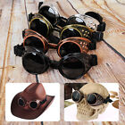 HOT Vintage Steampunk Goggles Glasses Welding Cyber Punk Gothic Rave Len Cosplay