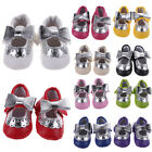 Infant Girl Toddler Baby Tassel Soft Sole Leather Shoes Moccasin 0-24 Months New